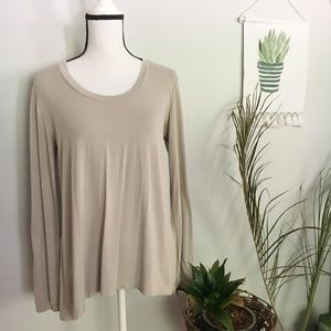 H by HALSTON long sleeve casual blouse S